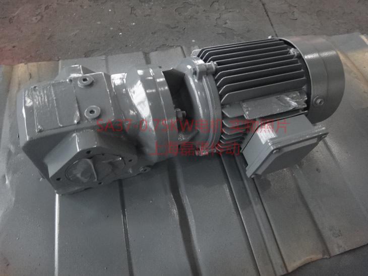SA37系列减速机,配0.75KW四级电机实物照片